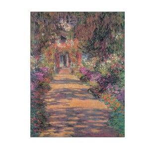 Obraz Monet - Une Allée du jardin, 60x80 cm