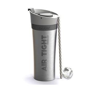 Termolahev ve stříbrné barvě Asobu Fresh N Go, 500 ml