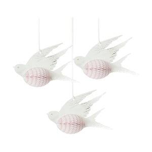 Sada tří papírových dekorací Talking Tables Honeycomb Birds
