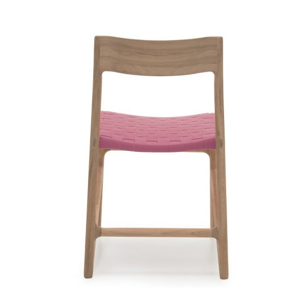 Židle Fawn White Pigment Gazzda, růžová