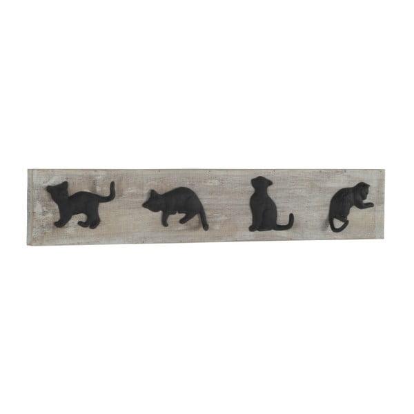 Nástěnný dřevěný věšák Geese Cats