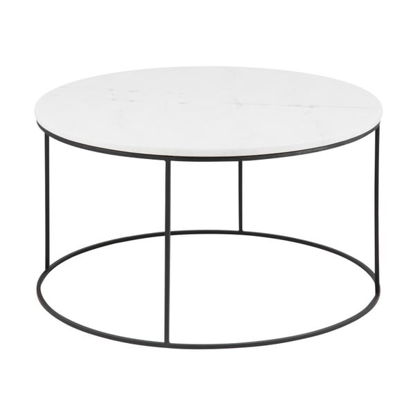 Konferenční stolek s mramorovou deskou Actona Bolton,ø80cm
