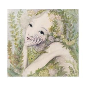 Poster de autor, Léna Brauner, Zâna florilor, 60 x 67 cm