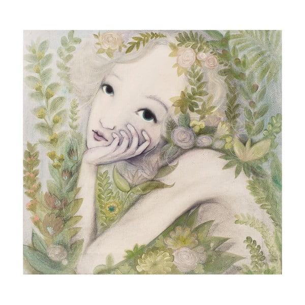 Autorský plakát od Lény Brauner Květinová víla, 47x50cm