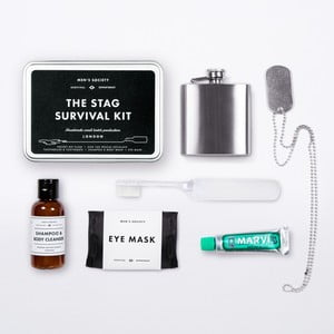 Kit igienă cu recipient de buzunar Men's Society Stag Survival