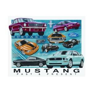Plechová cedule Mustang, 30x40 cm