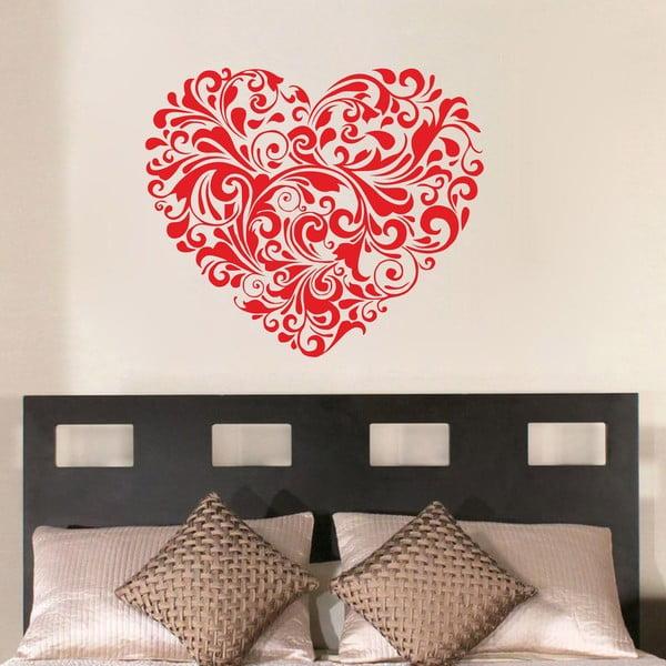 Dekorativní nástěnná samolepka Red Heart