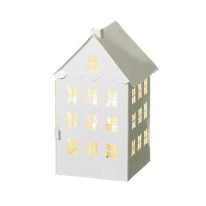 Svíticí dekorace z kovu ve tvaru domečku Unimasa