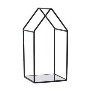 Černý podnos na svíčky KJ Collection Melo,25,5cm
