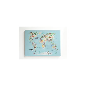Tablou pe pânză Little Nice Things Mapamundi, 50 x 70 cm