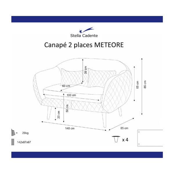 Krémová dvoumístná pohovka Scandi by Stella Cadente Maison Meteore