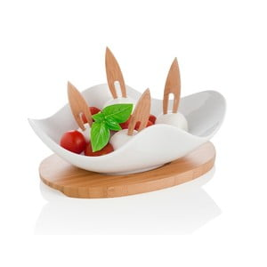 Servírovací miska s podnosem a 4 napichovátky Brandani Nuvola