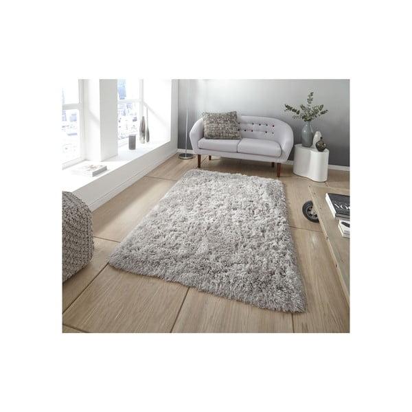 Světle šedý ručně tuftovaný koberec Think Rugs Polar PL Light Grey, 80 x 150 cm