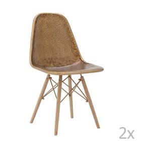 Set 2 scaune din lemn de mesteacăn InArt Benedita