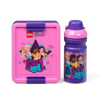 Set sticlă pentru apă și cutie pentru gustări LEGO® Friends Girls Rock imagine