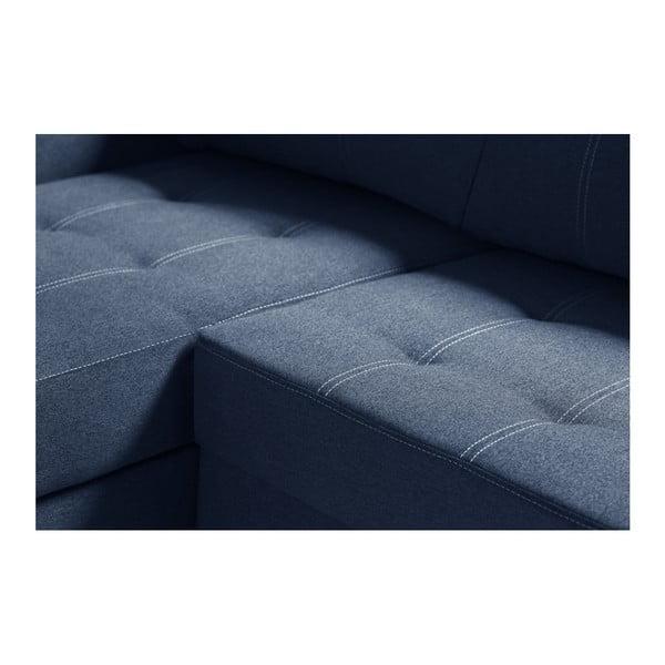 Modrá rohová rozkládací pohovka s úložným prostorem INTERIEUR DE FAMILLE PARIS Succès, pravý roh