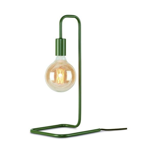 Zelenošedá stolní lampa Citylights London