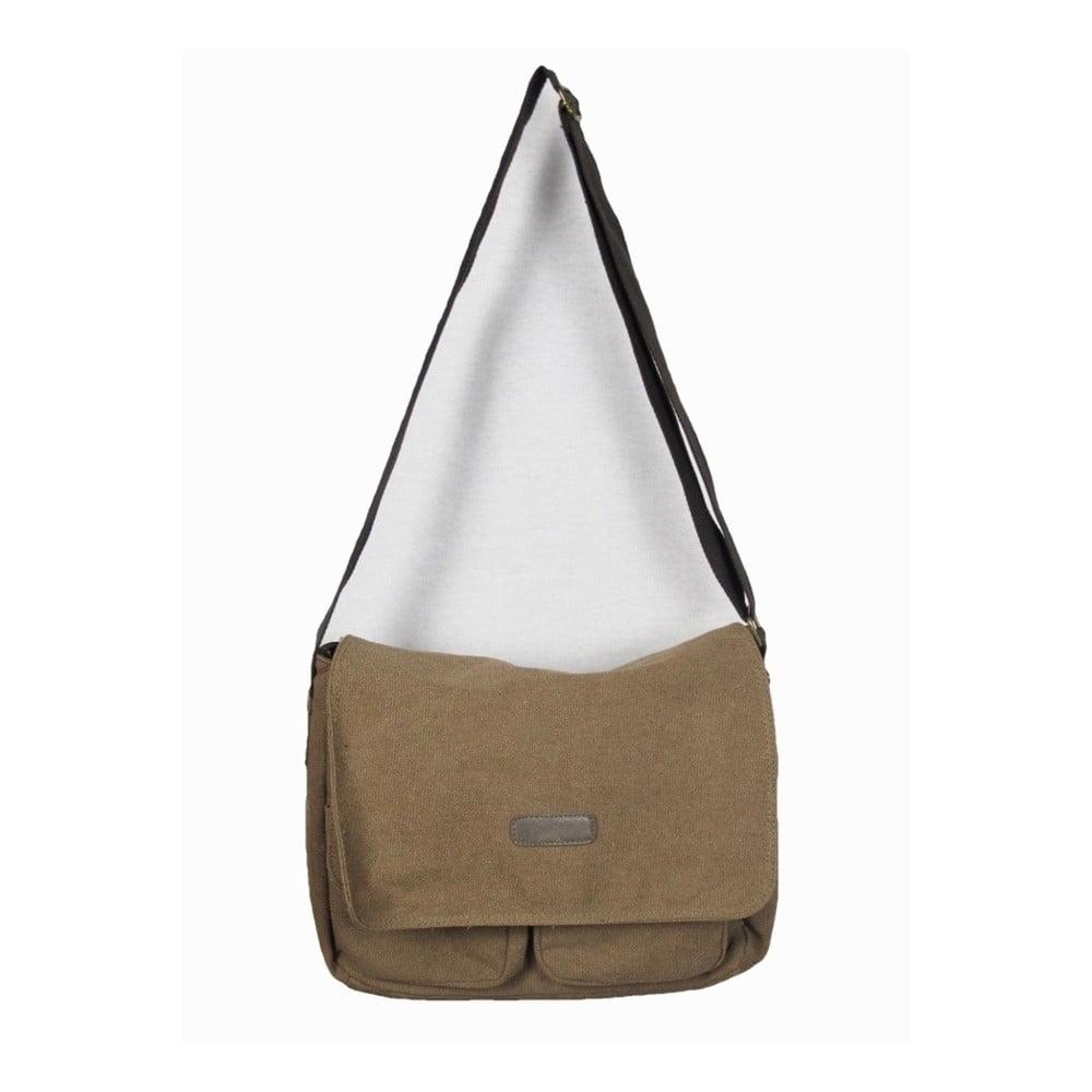 Hnědá plátěná taška Sorela Rania