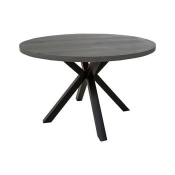 Masă rotundă cu picioare negre Canett Maison, ø 120 cm, gri