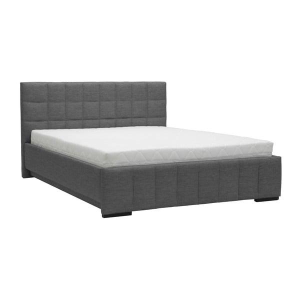 Pat dublu Mazzini Beds Dream, 180 x 200 cm, gri