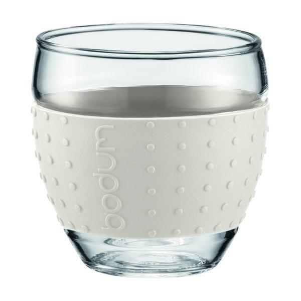 Sada 2 sklenic Pavina Small, bílý proužek