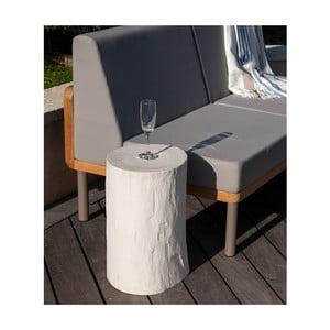 Bílá zahradní stolička v dekoru dřeva Ezeis Ecotop
