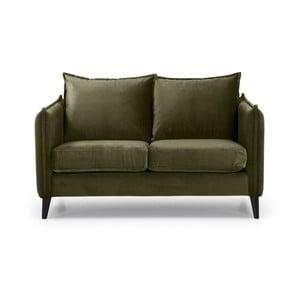 Khaki zelená dvoumístná pohovka Softnord Leo