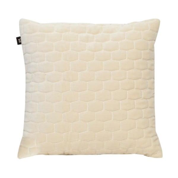 Śmietankowa poduszka z aksamitnego materiału PT LIVING, 35x35 cm