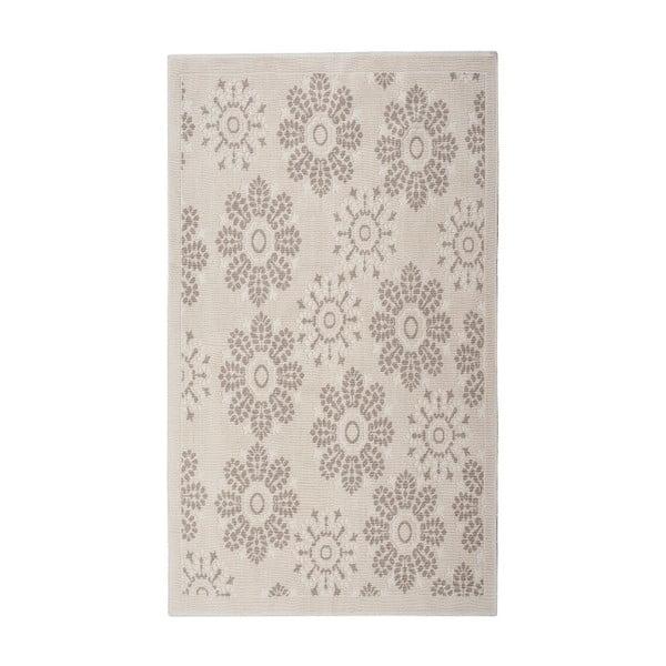 Krémový bavlněný koberec Floorist Randa, 80x150cm