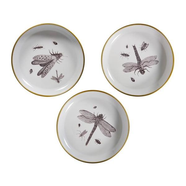 Insect 3 részes dekorációs tányérkészlet - WOOOD