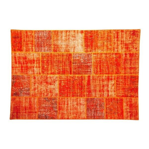 Vlněný koberec Allmode Orange, 180x120 cm