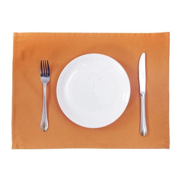Sada 2 oranžových prestieraní Apolena Plain Orange, 33×45cm