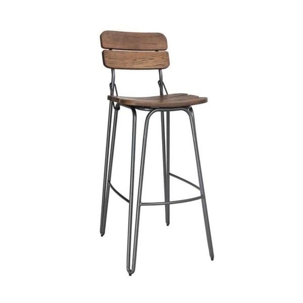 Dřevěná barová židle VIDA Living delta, výška 93 cm