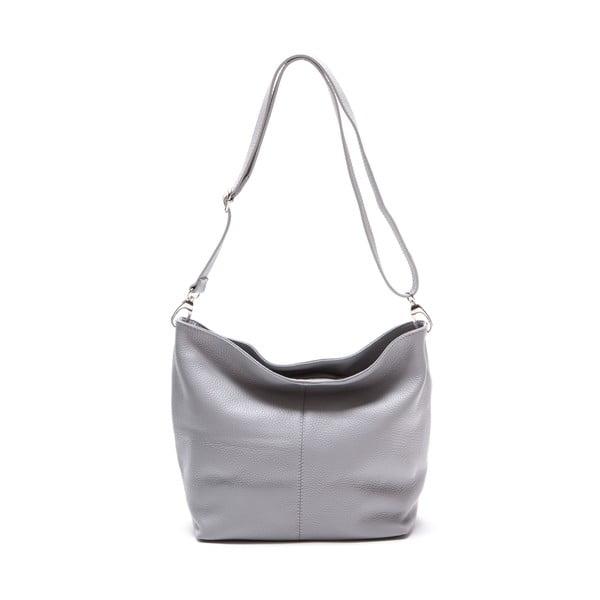 Kožená kabelka Luisa Vanini 1029, šedá