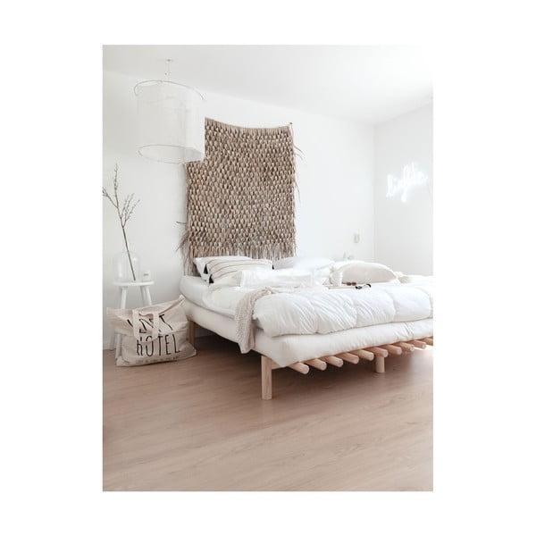 Černý rám postele z borovicového dřeva Karup Design Pace Black,140 x 200 cm