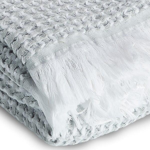 Osuška Whyte 100x160 cm, bílá/šedá