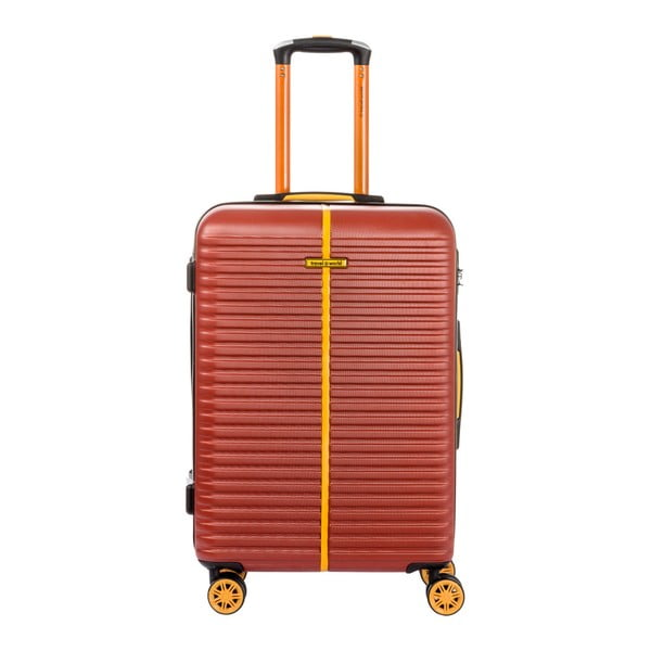 Sada 3 hnědých kufrů Travel World Amazonia