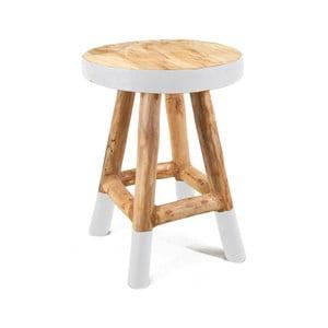 Stolička z teakového dřeva Moycor Marsella, 42 cm