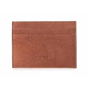 Hnědé kožené pouzdro na karty a vizitky O My Bag Mark´s