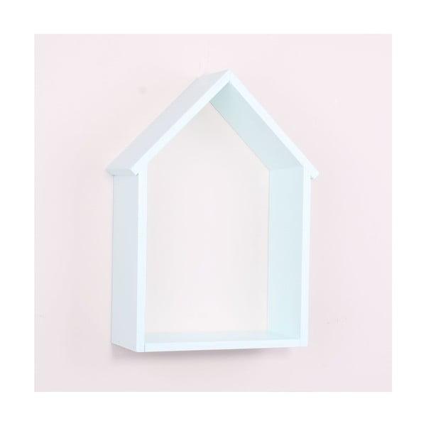 House halványkék fa fali polc - North Carolina Scandinavian Home Decors
