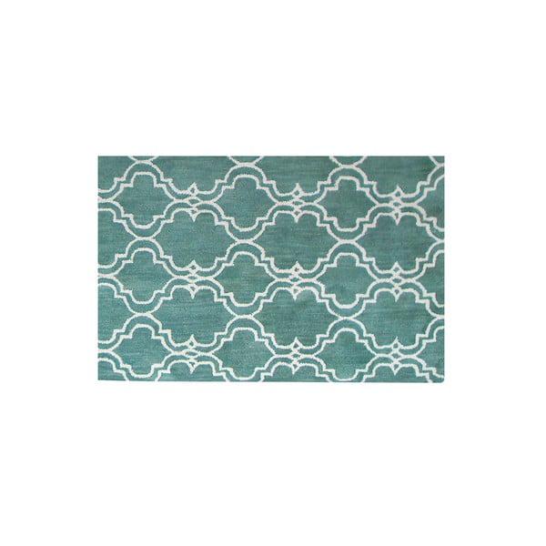 Zelený vlněný koberec Bakero Riviera, 122x183cm