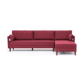Canapea/pat cu șezlong pe partea stângă Balcab Home Emily, bordeaux de la Balcab Home