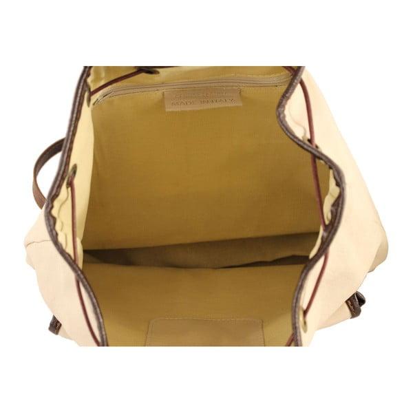Béžový kožený batoh Becky