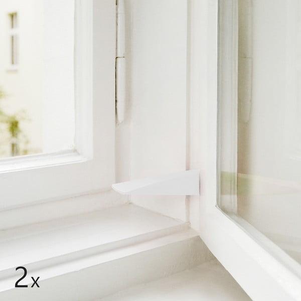 Sada 2 dveřních/okenních zarážek, bílo-šedé