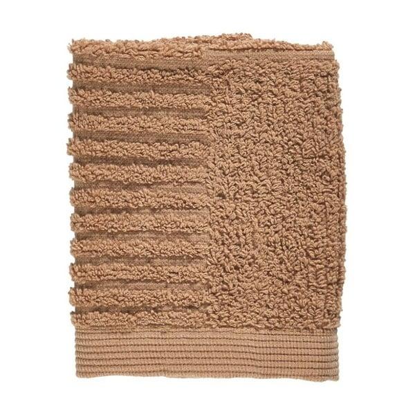 Prosop din bumbac 100% pentru față Zone Classic Amber, 30 x 30 cm, maro roz