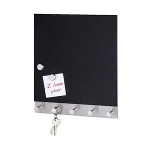 Cuier magnetic pentru haine cu tablă de scris Wenko Black Big