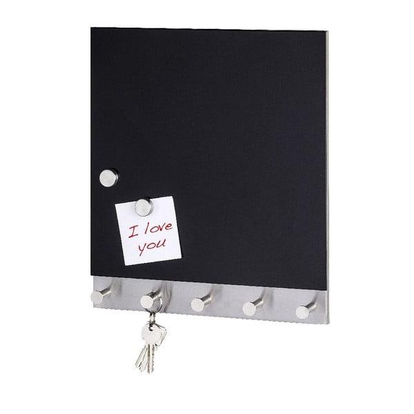 Cuier magnetic pentru haine cu tablă de scris Wenko Black Big, 30 x 34 cm
