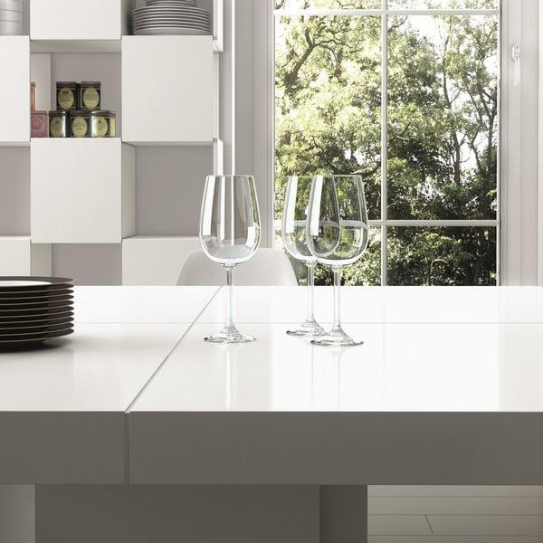 Lesklý bílý jídelní stůl TemaHome Dusk, 150 cm