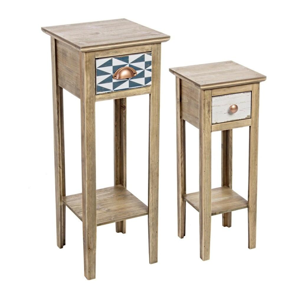 Sada 2 odkládacích stolků z jedlového dřeva Bizzotto Roxet