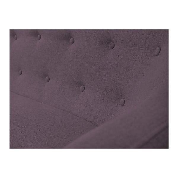 Canapea cu 3 locuri Mazzini Sofas Piemont, violet